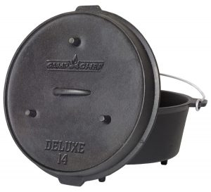 "Camp Chef DO-14 Pre-Seasoned Deluxe 12-Quart 14"" Dutch Oven with Lid"