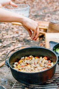 One Pot Camping Meals - Apple Cobbler