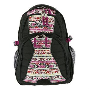 High Sierra Swerve Backpack, Black Flowers