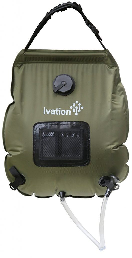 Ivation 5-Gallon Portable Outdoor Shower - Lightweight & Portable - Includes Removable Hose w/On-Off Switchable Showerhead