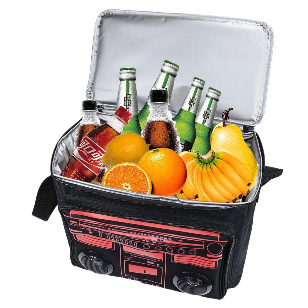 Bluetooth Speaker Cooler Bag,Crazyfire Picnic Cooler Bag with Bluetooth Speaker for Outdoor Traveling