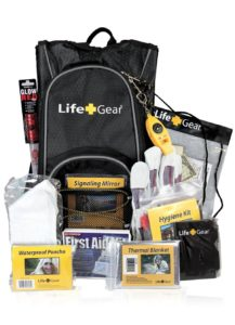 Life Gear Emergency Survival Kit Backpack w/Emergency Gear & First Aid Kit