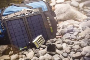 Charge your portable devices outdoors