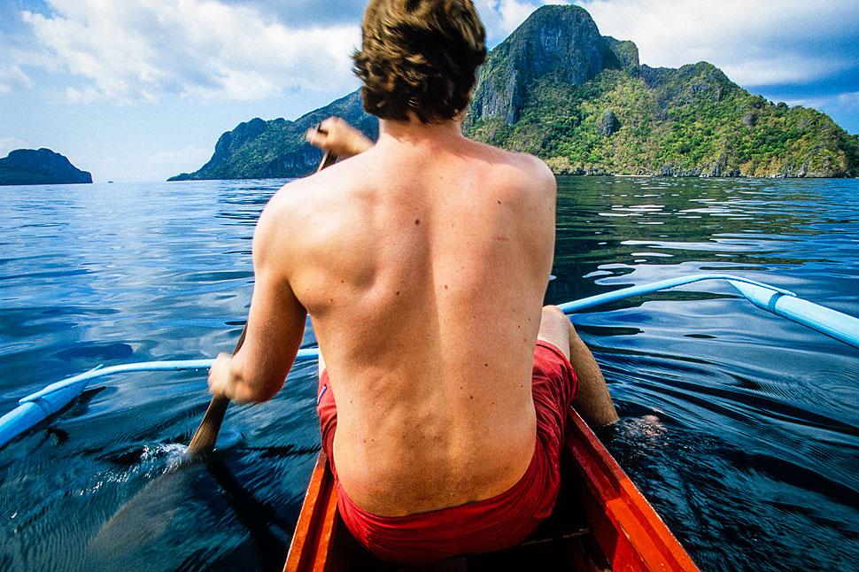 Palawan summer camping tropical island