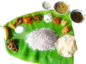 using banana leaf for lunch