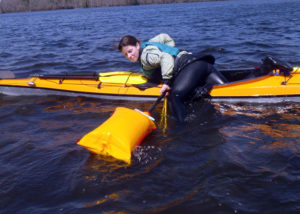 How To Get Back Into An Inflatable Kayak From The Water?