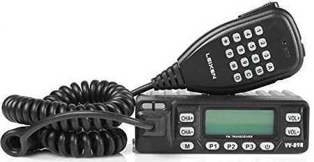 LEIXEN LX VV-898 Dual Band VHF/UHF 136-174/400-470MHz 10W Two Way Radio Mobile Transceiver Amateur Ham Radio