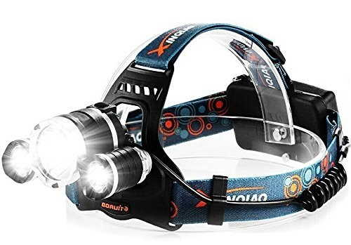Hands Free Headlight Flashlight Torch