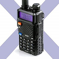 BTECH UV-5X3 5 Watt Tri-Band Radio VHF, 1.25M, UHF, Amateur (Ham)