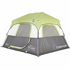 93daa274b7 Coleman Company Signature Instant Cabin 6 Person Double Hub Tent, Black/Grey