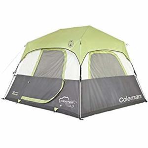 Coleman Company Signature Instant Cabin 6 Person Double Hub Tent, Black/Grey