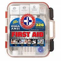 First Aid Kit Hard Red Case 326 Pieces