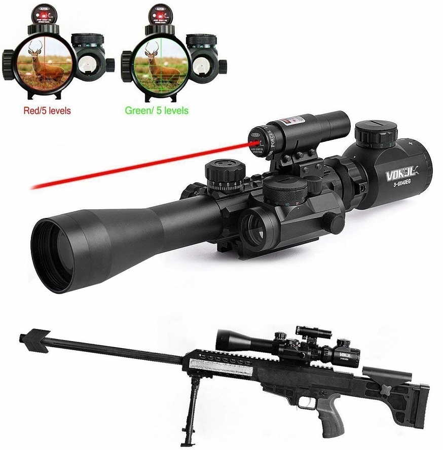 GOHIKING Tactical 3-9x40mm Illuminated Rifle Scope