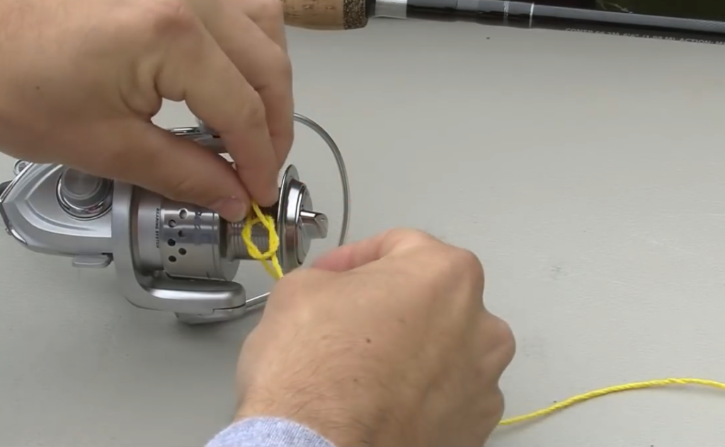 How to spool a spinning reel with braid