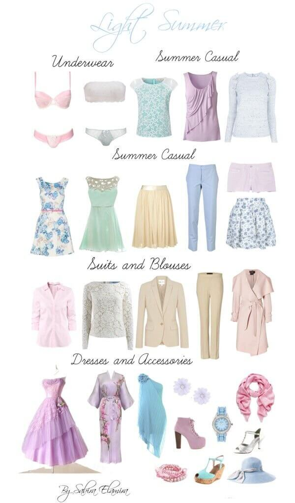 light colors clothing